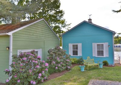 Cottage exteriors.