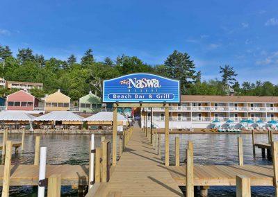 The NASWA Resort, docks and Lake Winnipesaukee